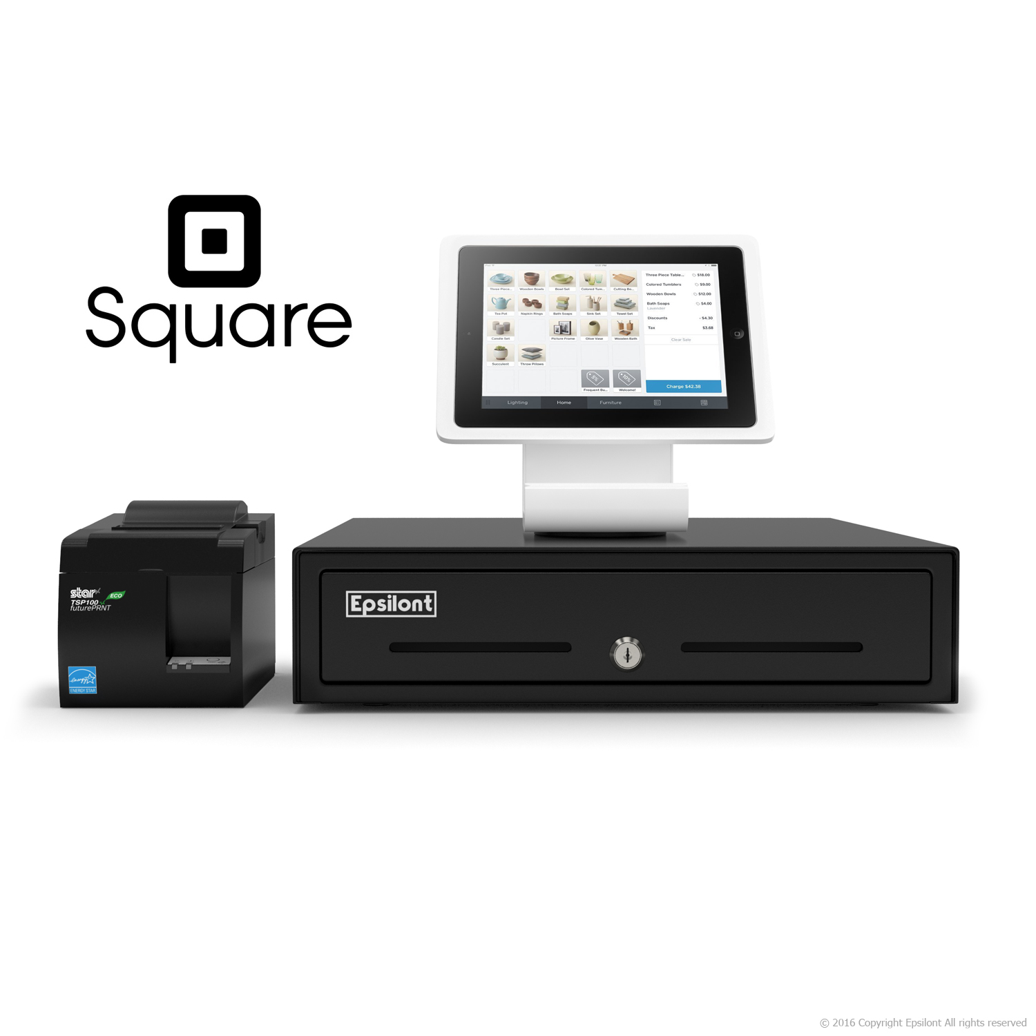 pos square register product cash drawer bundle usb new brand